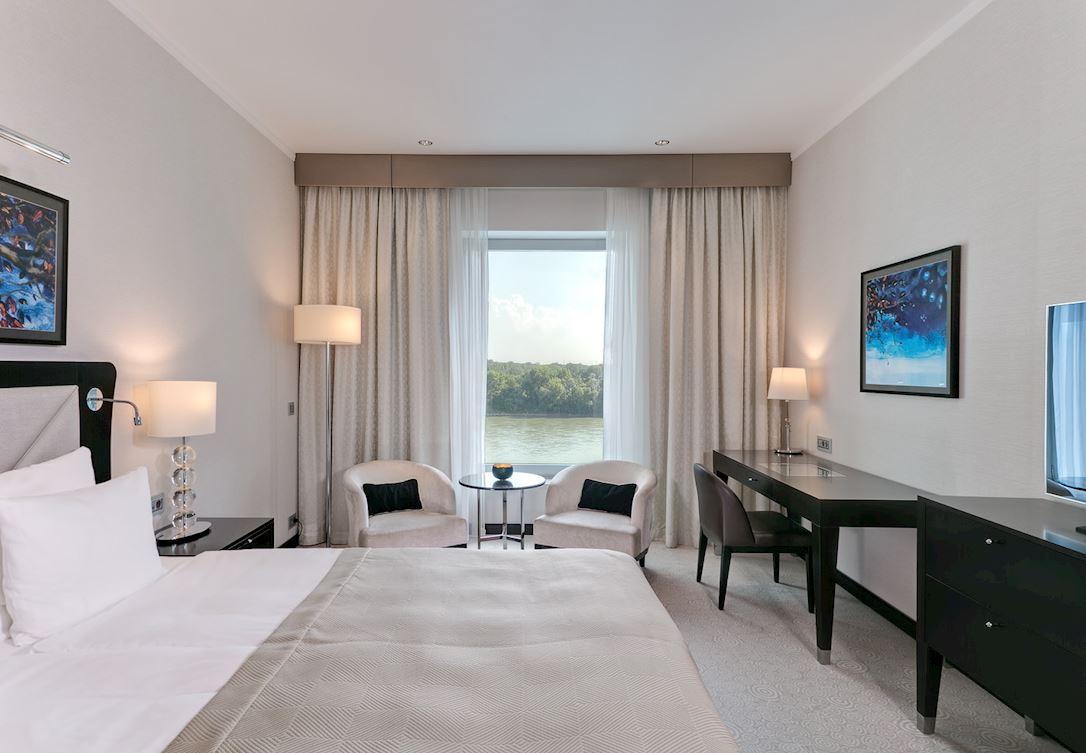 Izba orientovaná na rieku v Grand Hoteli River Park Bratislava